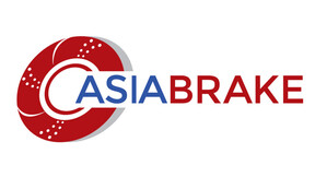 Logo Asia Brake, redm blue, capital letter, lapinus